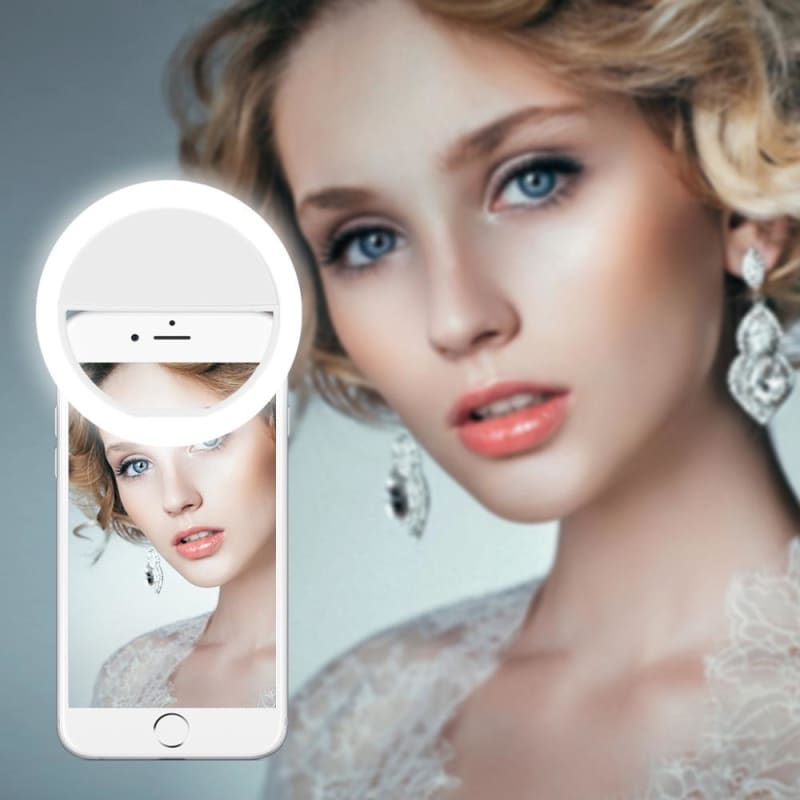 Lamp LED Beauty Magic Lamp For Selfie Fill Light Clip Phone USB Electronic - My Web Store Shopping