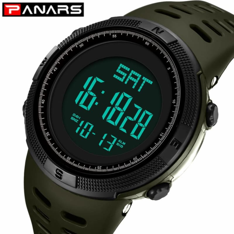 Military LED Fashion Watch Men Multi Function Electronic Watch Digital Wristwatches - My Web Store Shopping