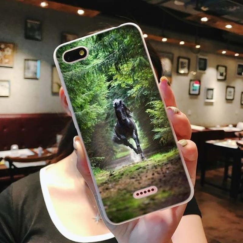 Load image into Gallery viewer, Silicone Phone Case Fine horse art for Xiaomi Redmi S2 Note 4 4X 5 5Pro 5A Plus 6 6A 7 Pro Cover - My Web Store Shopping