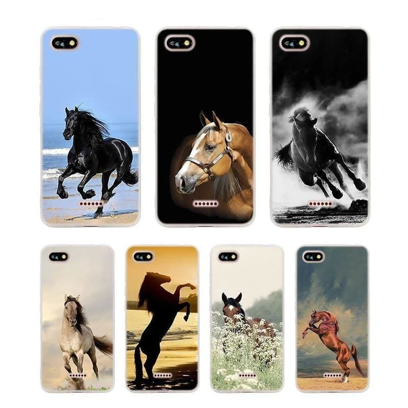 Silicone Phone Case Fine horse art for Xiaomi Redmi S2 Note 4 4X 5 5Pro 5A Plus 6 6A 7 Pro Cover - My Web Store Shopping