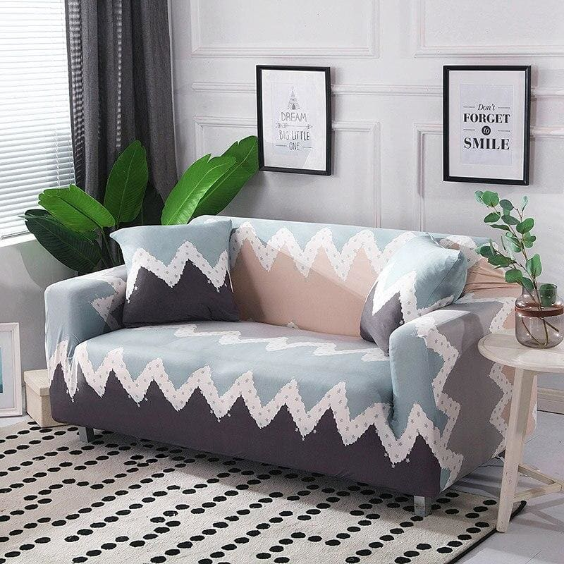 Stretch Sofa Cover Cotton Elastic All-inclusive Armchair Corner Sofa Covers for Living Room Home - My Web Store Shopping