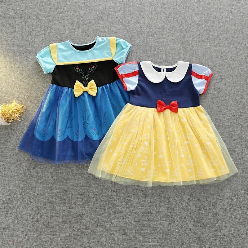 Snow White Princess Dresses Princess Girl Cute Evening Party Dress - My Web Store Shopping