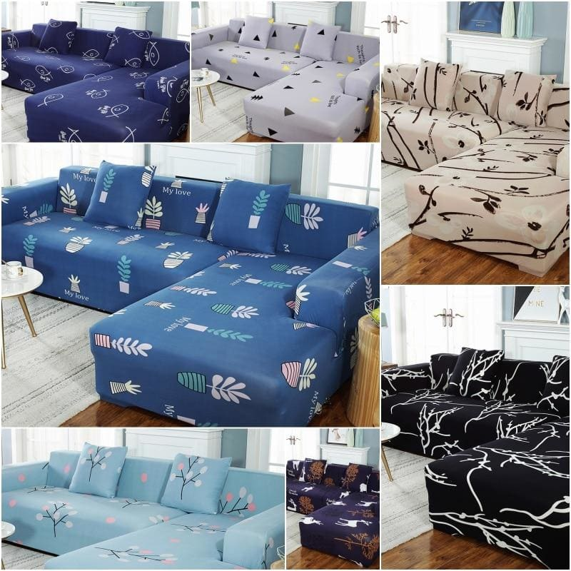 Sofa Cover Elastic Couch Cover for Sofa Sectional L Shaped Sofa Cover Chaise Longue Stretch Sofa - My Web Store Shopping