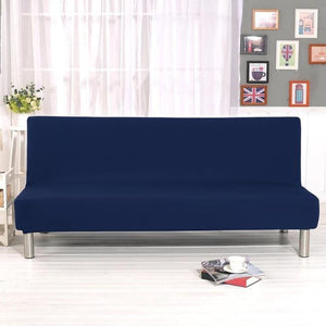 Load image into Gallery viewer, Sofa Cover Gray Black Navy Blue Solid Color All-inclusive Folding Stretch Bed Covers Decoration Protector Slipcover No Armrests - My Web Store Shopping