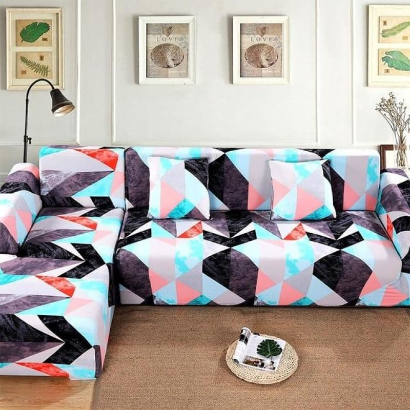 Load image into Gallery viewer, 1/2 pieces Sofa Cover Set Geometric Couch Cover Elastic Sofa Cover for Living Room Pets Corner L - My Web Store Shopping