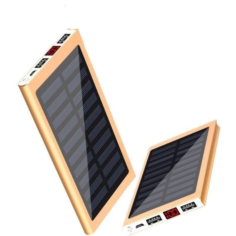 Solar Power Bank External Battery 2 USB LED Powerbank Portable Mobile phone Solar Charger - My Web Store Shopping