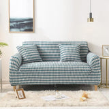 Solid Color Elastic Sofa Cover For Living Room Plaid Stretch Sectional Slipcovers Armchair Couch Cover L shape 1/2/3/4 seater - My Web Store Shopping