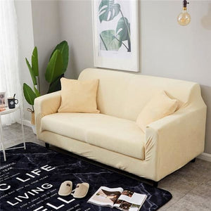 Load image into Gallery viewer, Solid Color Plush Thicken Elastic Sofa Cover Universal Sectional Slipcover Stretch Couch Cover for Living Room 1/2/3/4 seater - My Web Store Shopping