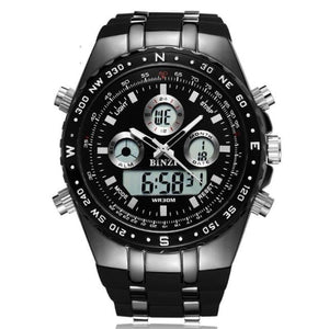 Load image into Gallery viewer, Sports Military Army Men Watch Luxury Brand Men's Dual Display Quartz Wristwatches LED Digital - My Web Store Shopping