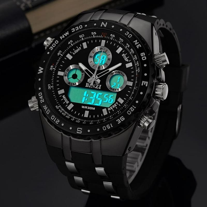 Sports Military Army Men Watch Luxury Brand Men's Dual Display Quartz Wristwatches LED Digital - My Web Store Shopping