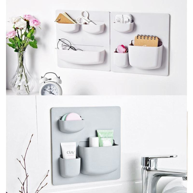 Storage Racks Home Paste Wall Rack Bathroom Wall Free Punch  Hanging Racks Kitchen Holder - My Web Store Shopping