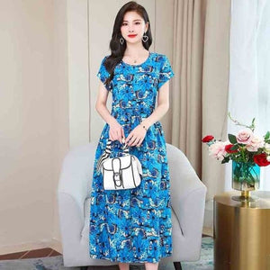 Load image into Gallery viewer, Summer Beach Dress Woman Dresses Plus Size Women Floral Sunflower Dress print Ladies Backless Party - My Web Store Shopping