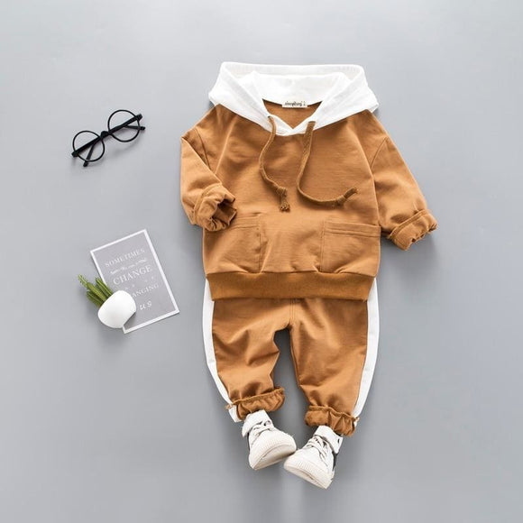 Toddler Baby Boy Hooded Clothing Set Kid Casual Sweatshirt Long Sleeve Autumn Boys Outfits Tracksuit - My Web Store Shopping