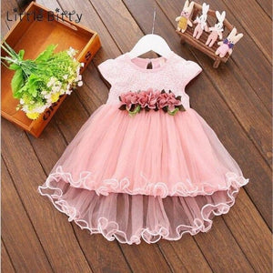 Load image into Gallery viewer, Toddler Baby Girl Dress Infant Floral Dresses for Girls 1-4T Tulle Birthday Party Sundress Clothes - My Web Store Shopping