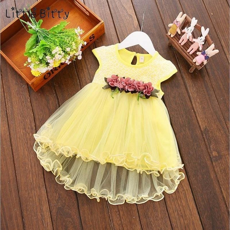 Toddler Baby Girl Dress Infant Floral Dresses for Girls 1-4T Tulle Birthday Party Sundress Clothes - My Web Store Shopping