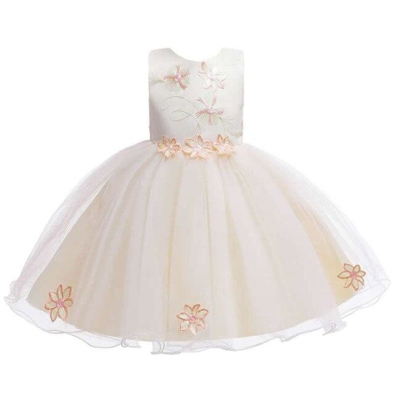 Load image into Gallery viewer, Toddler Girls Floral Party Dress Baby Formal Costume Infant Wedding Flower Girl Dress Blossom Print - My Web Store Shopping