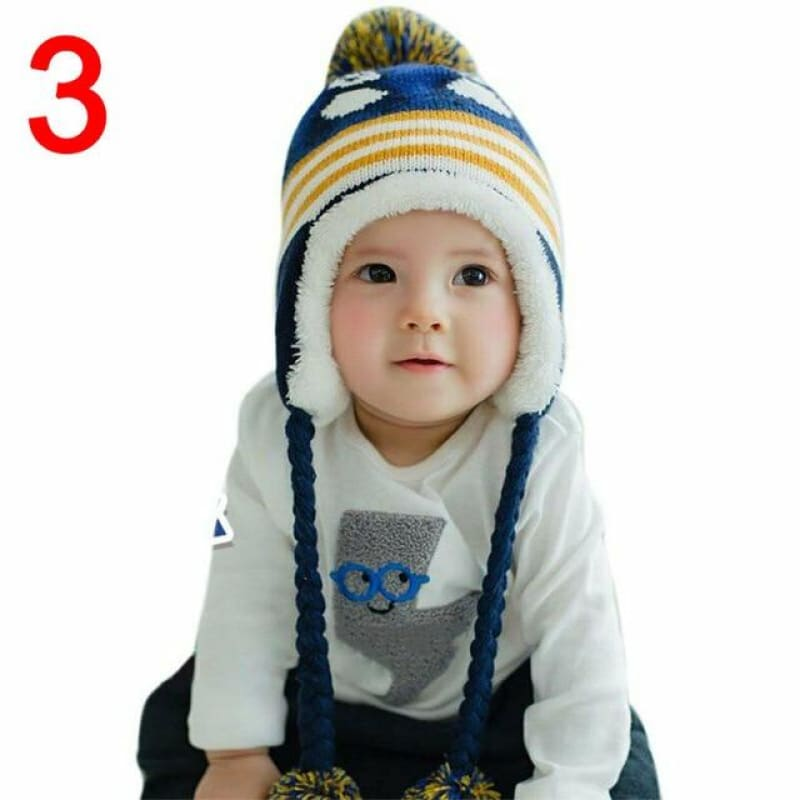 Toddler Kids Baby Boy Girl Winter Warm Knitted Crochet Earflap Beanie Hat Cap Wool Cute Penguin 2020 New Design Kids Hats - My Web Store Shopping