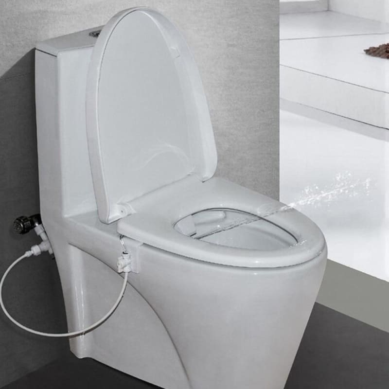 Toilet Bidet Flushing Device Water Spray Seat Fitting Hand Operation Parts for Bathroom Accessory - My Web Store Shopping