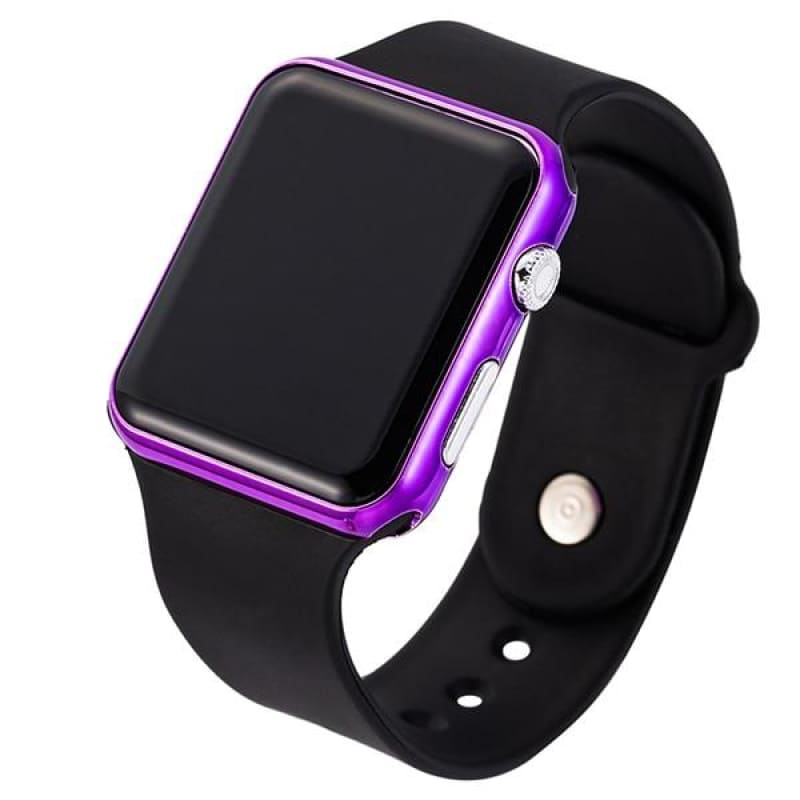 Top Brand Square Mirror Face Silicone Band Digital Watch Red LED Digital Watches Male Female - My Web Store Shopping