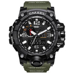 Men Sports Watches Men's Camouflage Khaki Quartz Clock Man Army Military Wrist Watch - My Web Store Shopping