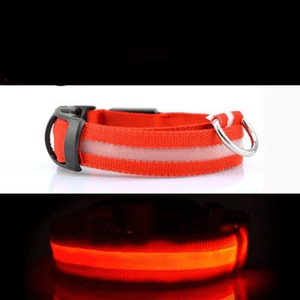 Load image into Gallery viewer, USB LED Dog Collar Pet Light Night Safety Light-up Flashing Glow in the Dark Lighted Cat - My Web Store Shopping
