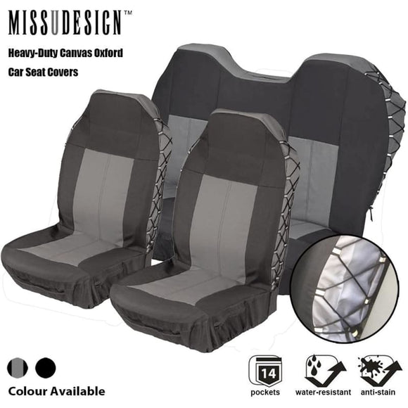 Universal Heavy Duty Canvas Water Resistant Full Set and 2 front seats 4x4 SUV - My Web Store Shopping