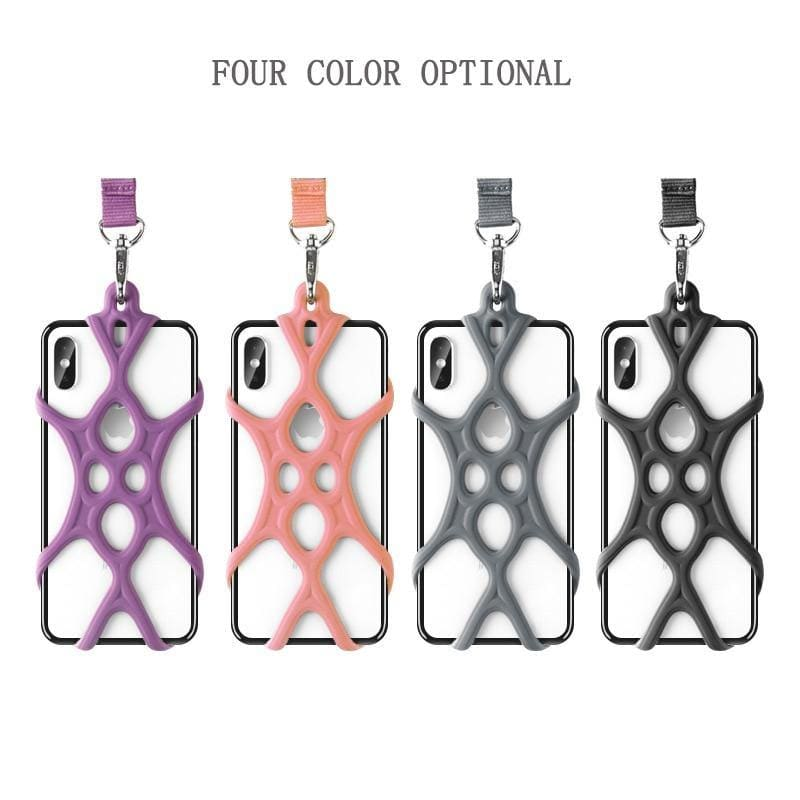 Universal Mobile Phone Lanyard Silicone Cellphone Holder Case Cover Neck Strap Necklace Sling For Xiaomi Huawei IPhone Dropship - My Web Store Shopping