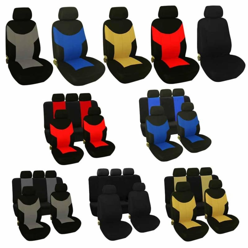 Universal Car Front Seat Covers Chair Cushion Protector 2/5 Seats 1 Set - My Web Store Shopping