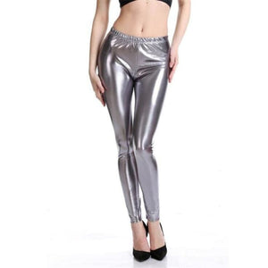 Load image into Gallery viewer, Women Leggings PU Faux Leather Slim Leggings Plus Size High Elasticity Sexy Push Up Pants Leggings - My Web Store Shopping