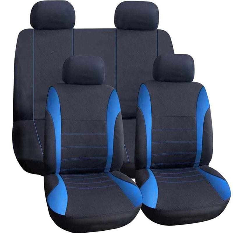 9Pcs/Set Universal Car Seat Support Cushion Cover Polyester Car Seat Front Back Covers Protector Car - My Web Store Shopping