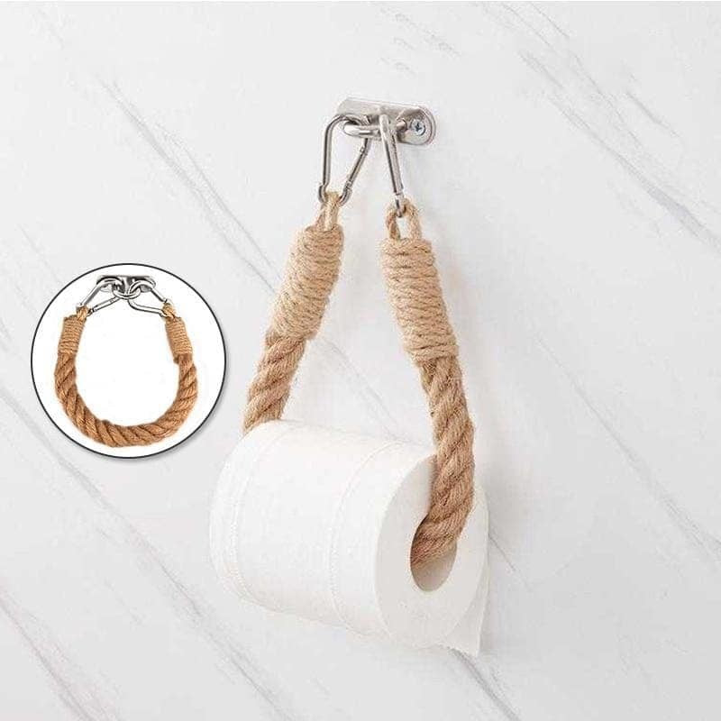 Vintage Towel Hanging Rope Toilet Paper Holder Home Hotel Bathroom Decorating Supplies - My Web Store Shopping