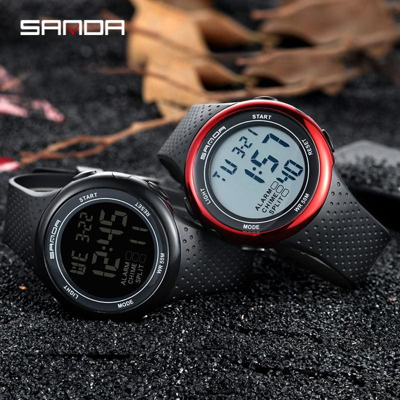 Waterproof Digital Watch Men Alarm-clock Date-week-display Sports Electronic Watches - My Web Store Shopping
