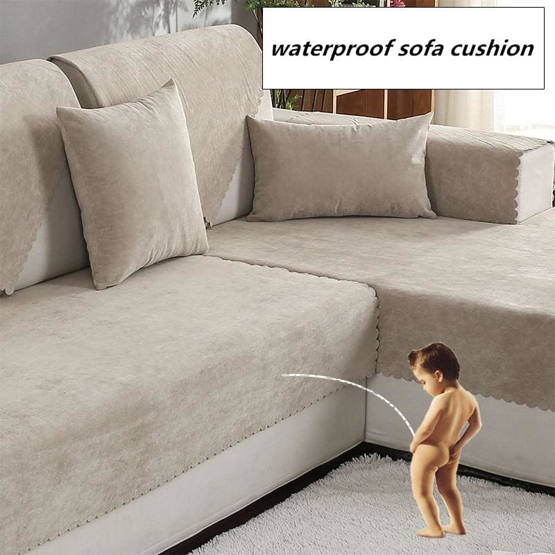 Waterproof sofa cushion Isolation of children's urine towel sofacover Non-slip Pure color - My Web Store Shopping