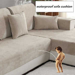 Load image into Gallery viewer, Waterproof sofa cushion Isolation of children's urine towel sofacover Non-slip Pure color - My Web Store Shopping