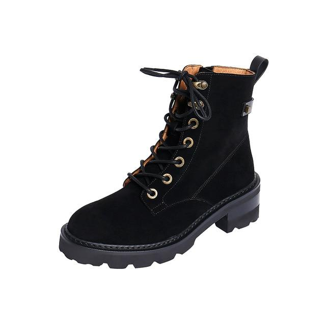 Martin platform wear resistant shoes boots for women - My Web Store Shopping