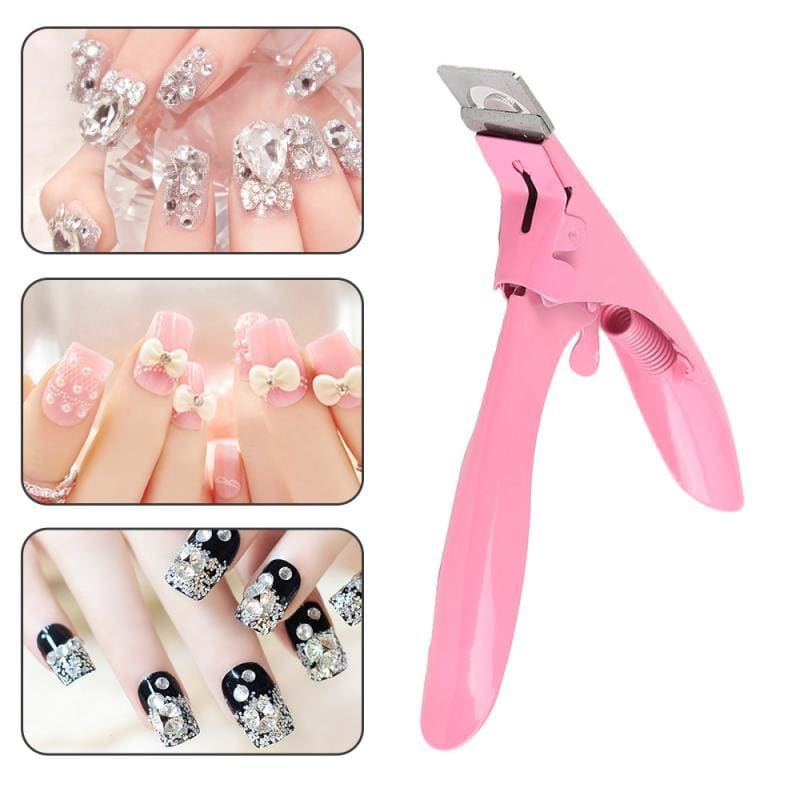 Women Men Nail Art Clipper Cutter UV Gel False Nail Tips Edge Cutter Manicure Pedicure U Shape - My Web Store Shopping