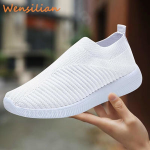 Women's White Sneakers Ladies Trainers Shoes Woman Sock Vulcanized Shoes Female - My Web Store Shopping