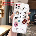 World Map Travel Plans Clear Soft Phone Case For iPhone For iPhone X XS Max 7 8 6 Plus XR Cases DIY Custom Name Line Phone Cover - My Web Store Shopping