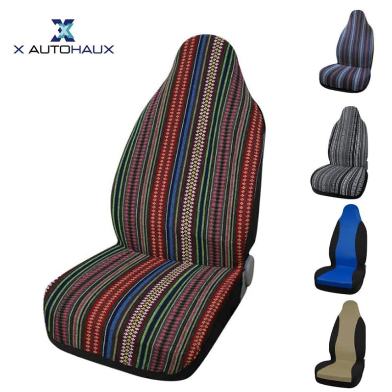 Load image into Gallery viewer, Univesal Front Or Whole Set Of Multi-color Auto Seat Cover Seat Protection Covers - My Web Store Shopping