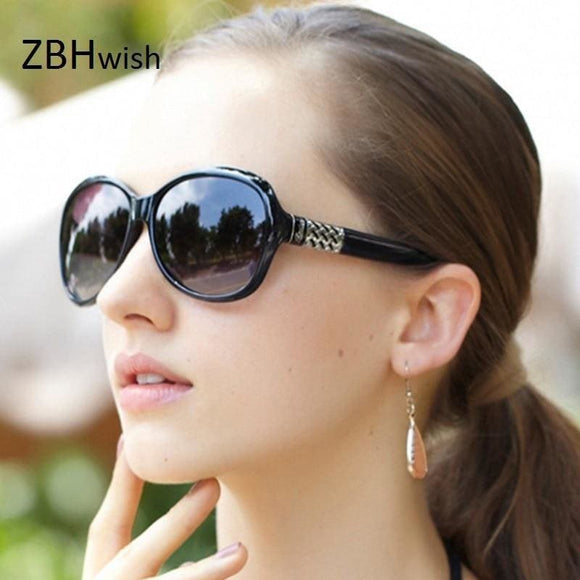Brand Designer Sunglasses Women Fashion Decorative Large Frame Sun Glasses - My Web Store Shopping