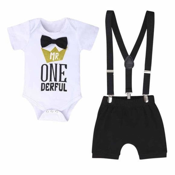 baby boy clothes one year birthday Newborn toddler Baby Boys 1st Letter - My Web Store Shopping
