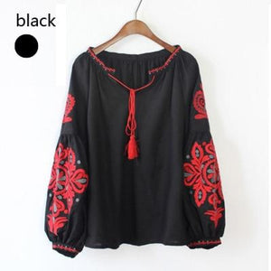 Load image into Gallery viewer, cotton blouse soft fabric boho - My Web Store Shopping