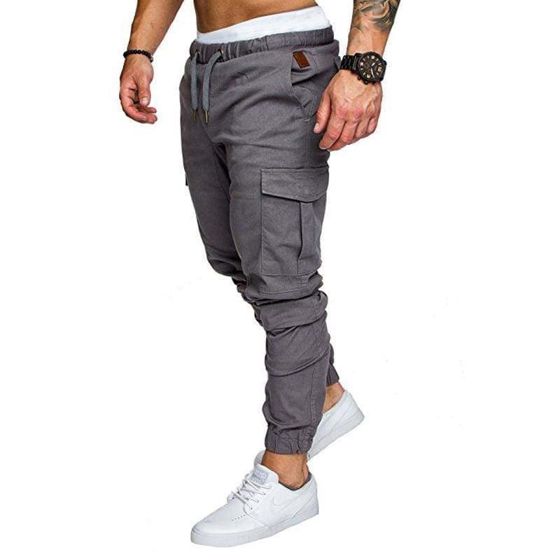 trousers coverall Casual pant with elastic lanyard and sports pants - My Web Store Shopping