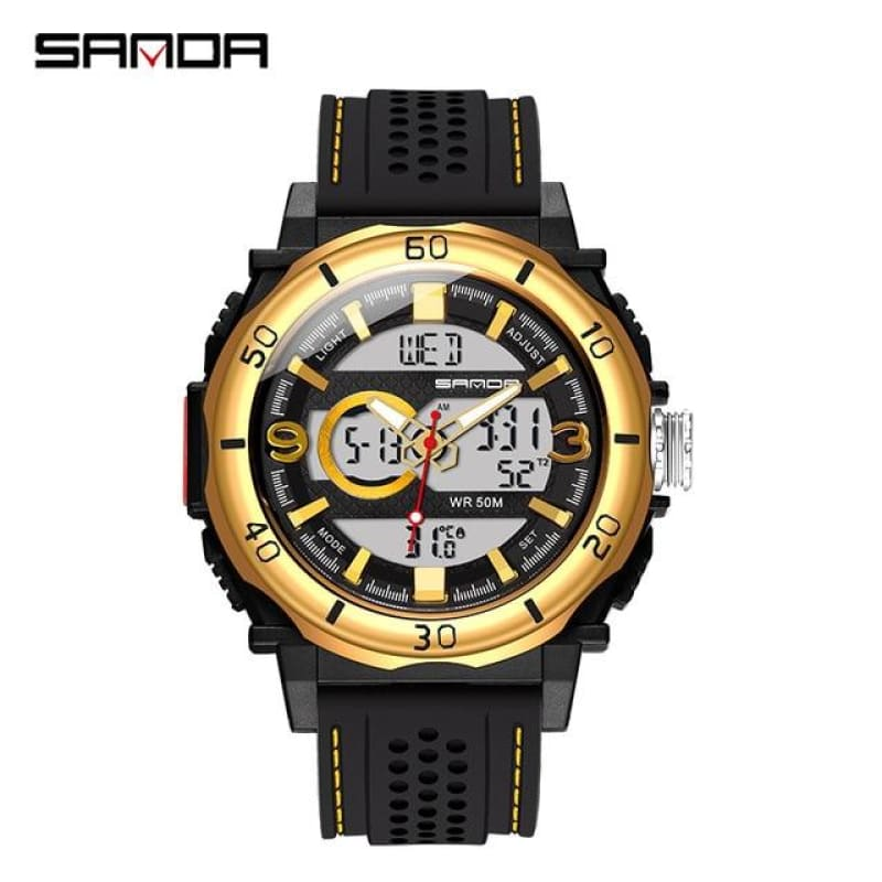 Load image into Gallery viewer, sanda new electronic watch thermometer sports watch fashion casual electronic watch men's electronic - My Web Store Shopping
