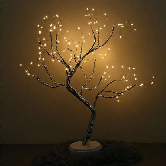 string lights USB Battery-Operated Wire Desk Top Bonsai Tree Light With 108 LED Beads  decorations - My Web Store Shopping
