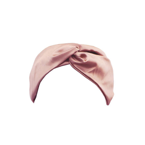 Slip silk headband twist - Pink