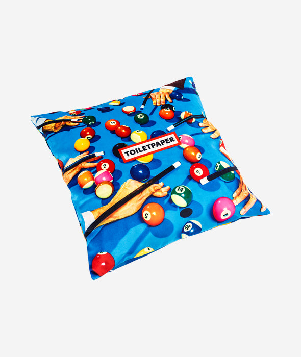 Snooker Pillow Seletti x Toiletpaper - BEAM // Design Store