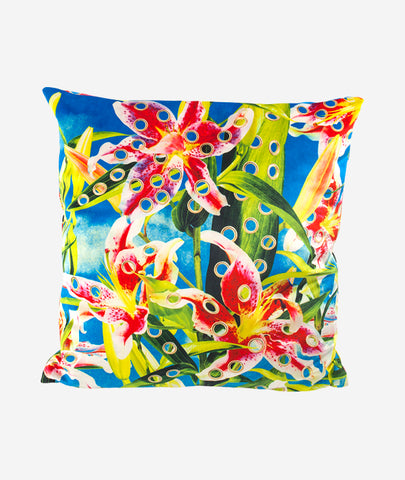 Flowers with Holes Pillow Seletti x Toiletpaper - BEAM // Design Store