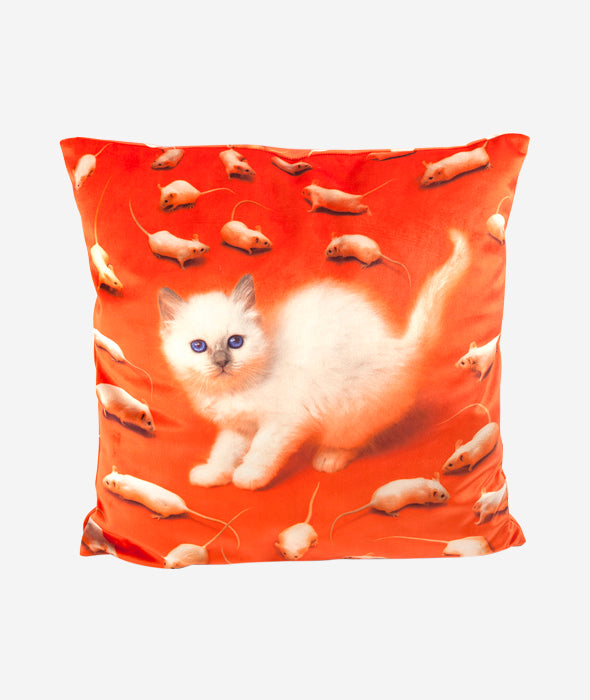 Kitten Pillow Seletti x Toiletpaper - BEAM // Design Store