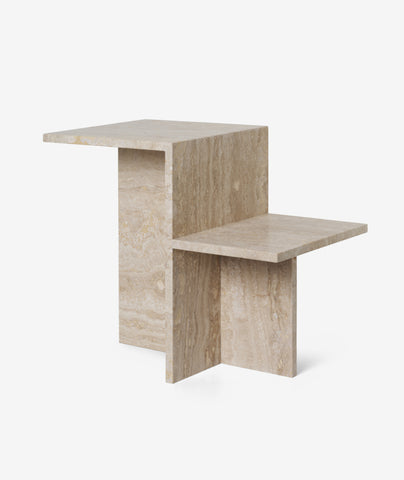 Distinct Side Table Travertine Ferm Living - BEAM // Design Store